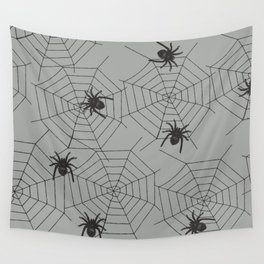 Hallween Spider web Wall Tapestry