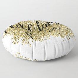 I like large parties - golden jazz Floor Pillow