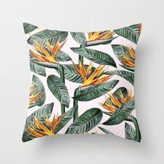 Bird Of Paradise Pattern #society6 #decor #buyart Throw Pillow
