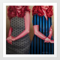karen hallion Art Prints featuring Mel & Karen by Kevin Thomas