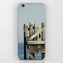 Seagull Pier, 14th Street Ferry, Columbia River Astoria Oregon iPhone Skin