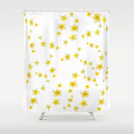 Common Frangipani watercolor Shower Curtain