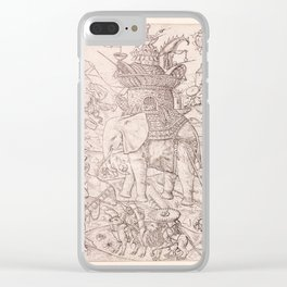 Byzantine War Elephant Clear iPhone Case