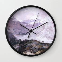 Mosquito Trail Rocky Mountains Colorado 1874 By Thomas Moran | Winter Landscape Reproduction Wall Clock