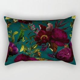 Before Midnight Vintage Flowers Garden Rectangular Pillow