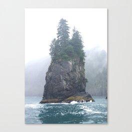 Alaskan Fjords Pillar - 1 Canvas Print