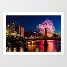 Fireworks in Pittsburgh - 2  Art Print