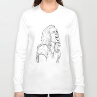 harry styles Long Sleeve T-shirts featuring Harry Styles by Cécile Pellerin