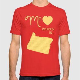 My Heart Belongs in Oregon T-shirt