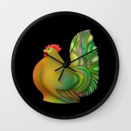 Fat chicken by rafi talby Wall Clock