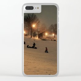 Let's go Sledding Clear iPhone Case