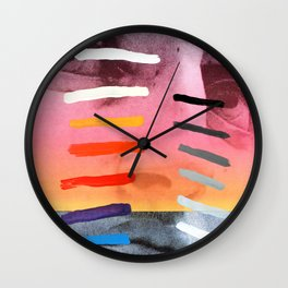 Composition on Panel 4 Wall Clock