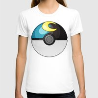 pokeball T-shirts featuring Moon Pokeball by Amandazzling