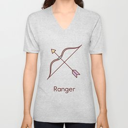 Cute Dungeons and Dragons Ranger class Unisex V-Neck