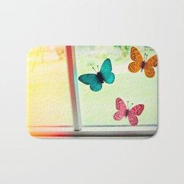 Butterflies On My Window Bath Mat
