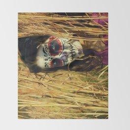 Dia De Los Muertos Gurl Throw Blanket