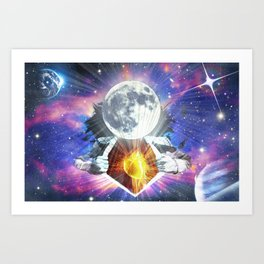 Man is the Moon Art Print