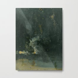 James Abbott McNeill Whistler - Nocturne in Black and Gold Metal Print