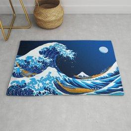 The Great Wave off Kanagawa (Bright & Colorful) Rug