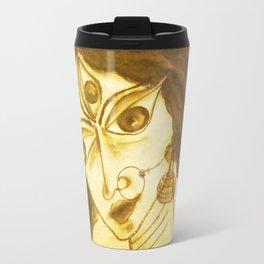 Divine Series 5 : Durga in charcoal Travel Mug