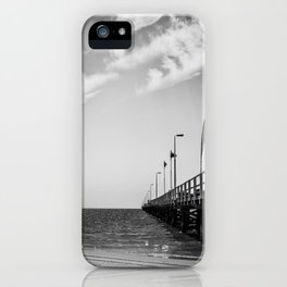 Jetty in Black and White iPhone Case