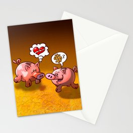 Money or Love? Stationery Cards