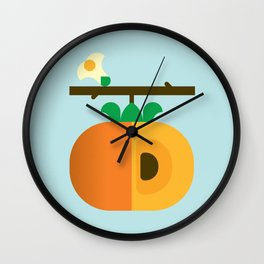 Fruit: Persimmon Wall Clock