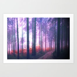 Woods in the outer space Art Print