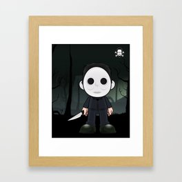 Lil Horror Classics Featuring Micheal Myers from Halloween Framed Art Print
