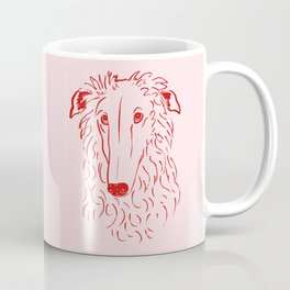Borzoi (Pink and Red) Coffee Mug