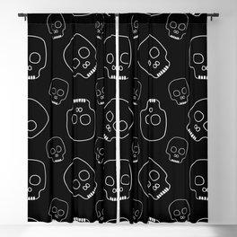 Skull pattern (black) Blackout Curtain