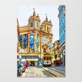 Venerable Trams of Portugal Canvas Print