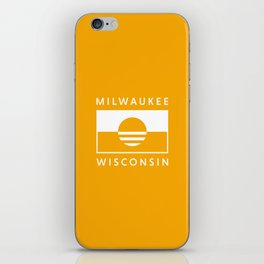Milwaukee Wisconsin - Gold - People's Flag of Milwaukee iPhone Skin