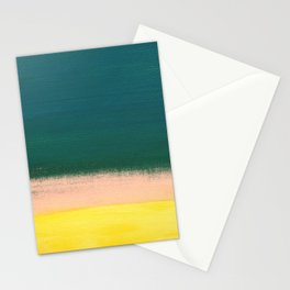 Minimal Abstract Sunset Painting Stationery Cards