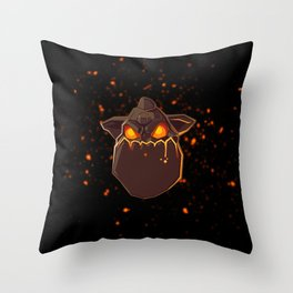 Lava Hound Throw Pillow