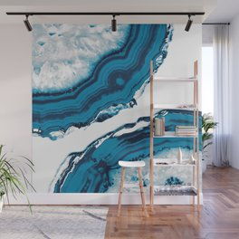 Blue Agate #2 #gem #decor #art #society6 Wall Mural