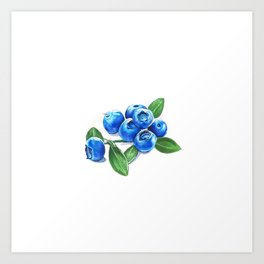 Bunch o' Blueberries Art Print