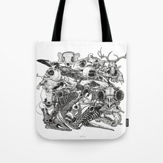 Animal Skulls Tote Bag