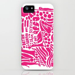 Better Surfed Out than Stressed Out iPhone Case