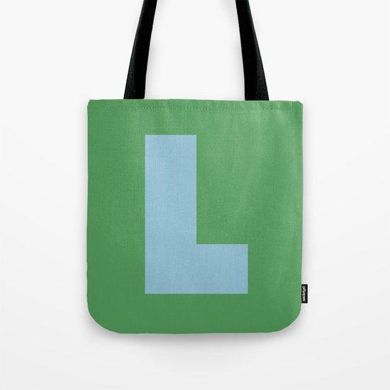 Light Blue L Tote Bag