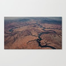 AERIAL VIEW DESERT CANYON #2 Canvas Print