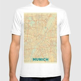 Munich Map Retro T-shirt