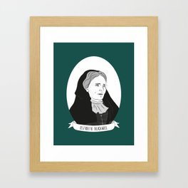 Elizabeth Blackwell Illustrated Portrait Framed Art Print