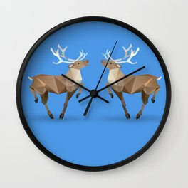 Reindeer. (Prancer) Wall Clock