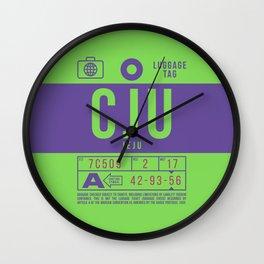 Baggage Tag B - CJU Jeju International South Korea Wall Clock
