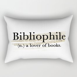 Bibliophile Rectangular Pillow