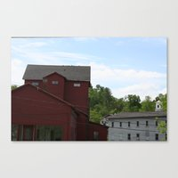 vermont Canvas Prints featuring Vermont by Yellow Barn Studio