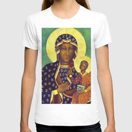 Virgin Mary Our Lady of Czestochowa Poland Black Madonna and Child Religion Christmas Gift T-shirt