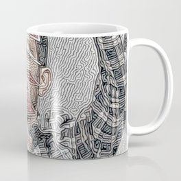 Dynamo Mysterious Game Artistic Illustration Maze Style Coffee Mug