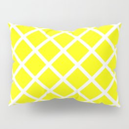 Criss-Cross (White & Yellow Pattern) Pillow Sham